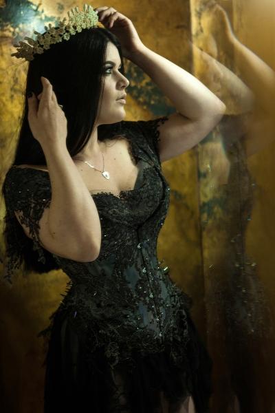 Gothic Princess corset by Karolina Laskowska. Modeled by Lowana, photo by Karolina Laskowska