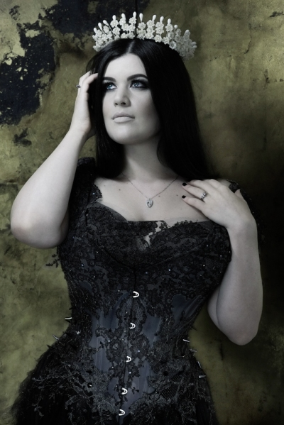 Gothic Princess corset by Karolina Laskowska. Modelled by Lowana, photography by Jenni Hampshire/Sparklewren