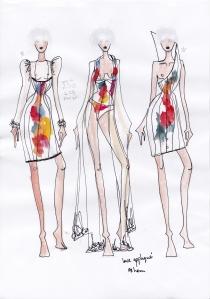 Karolina Laskowska graduate collection sketchbook design development 1