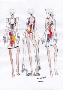 Karolina Laskowska graduate collection sketchbook design development 1