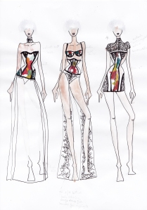Karolina Laskowska graduate collection sketchbook design development 2