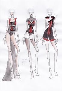 Karolina Laskowska graduate collection sketchbook design development 3