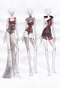 Karolina Laskowska graduate collection sketchbook design development 3