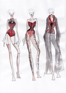 Karolina Laskowska graduate collection sketchbook design development 4