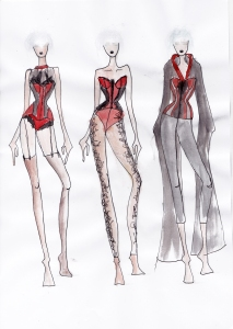 Karolina Laskowska graduate collection sketchbook design development 4