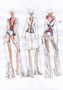 Karolina Laskowska graduate collection sketchbook design development 5