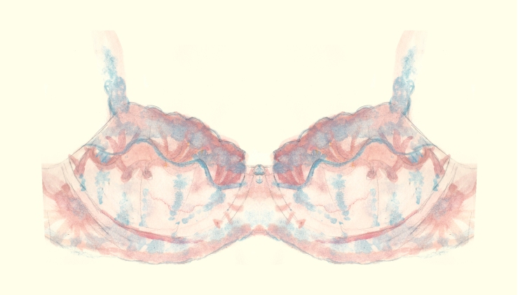 Illustration by Karolina Laskowska of a Rigby & Peller bra