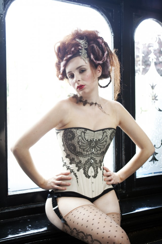 Corset and necklace by Morua, photography by Ana Fromboii