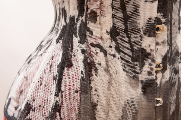 Ink corset by Karolina Laskowska - hip detail