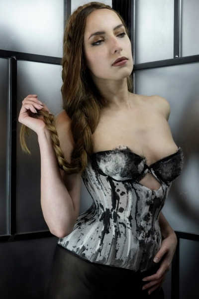 Ink corset by Karolina Laskowska, photography by Jenni Hampshire