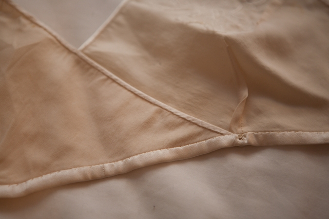 Kestos style silk bra inside hand finished binding detail. Photography by Karolina Laskowska