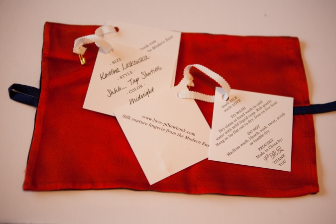 Beautiful personalised labels and silk wrapping from Pillowbook. Photo by K Laskowska