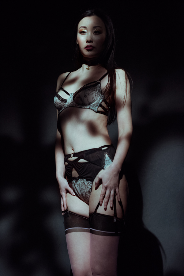The 'Carina' set by Karolina Laskowska. Photography by J. Tuliniemi. Modelled by Ceci Zhang. MUA by Anitka Kwiat.